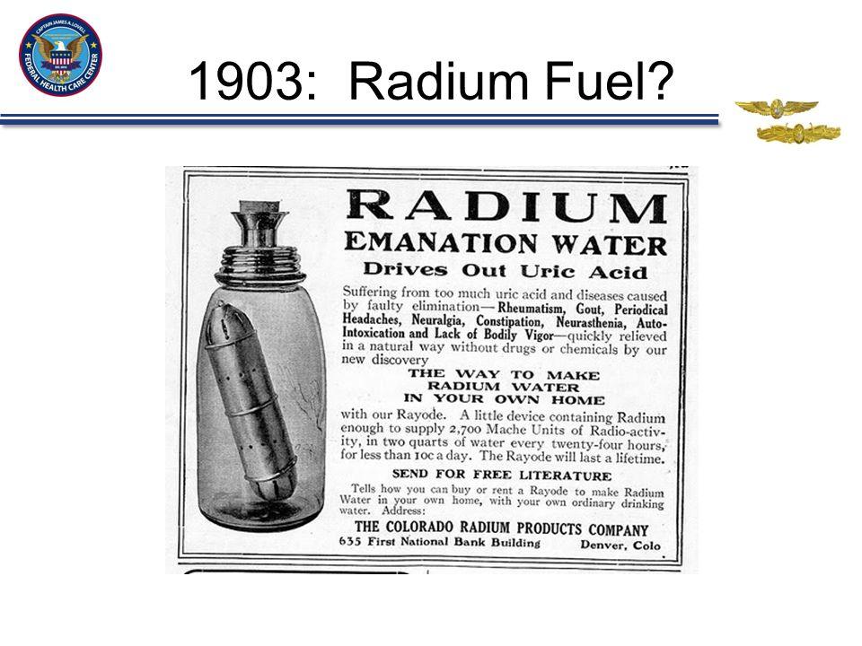 1903: Radium Fuel?