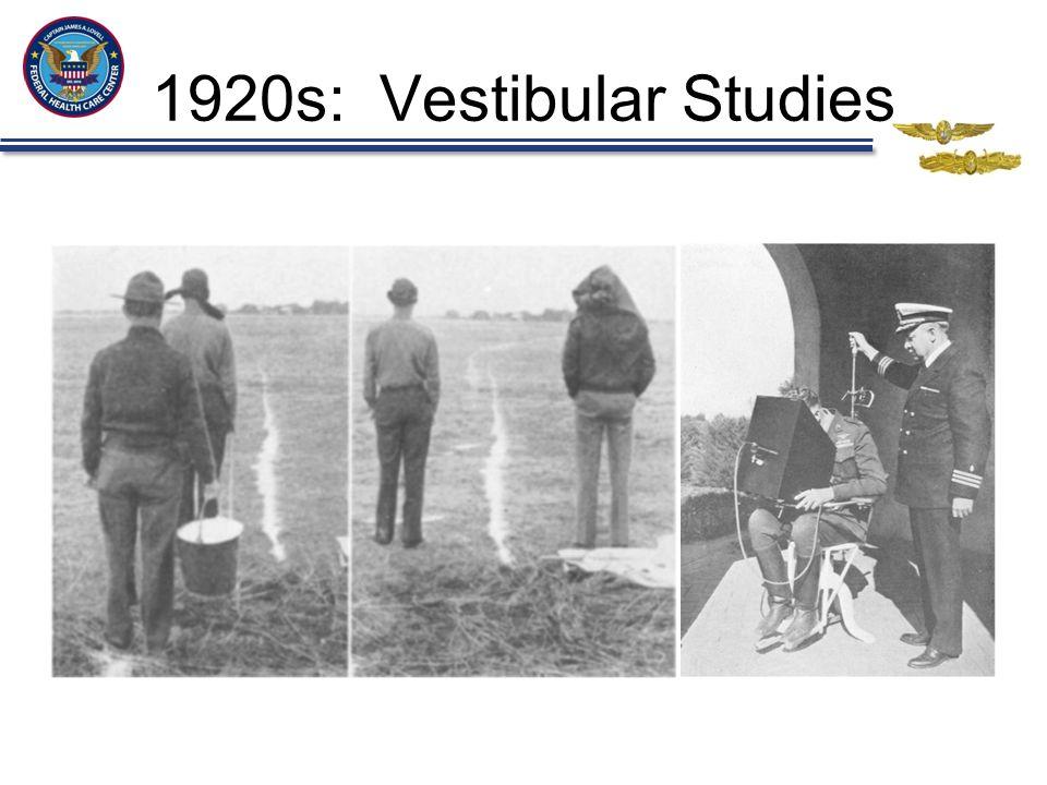 1920s: Vestibular Studies