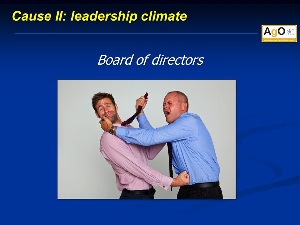 Board of directors Cause II: leadership climate
