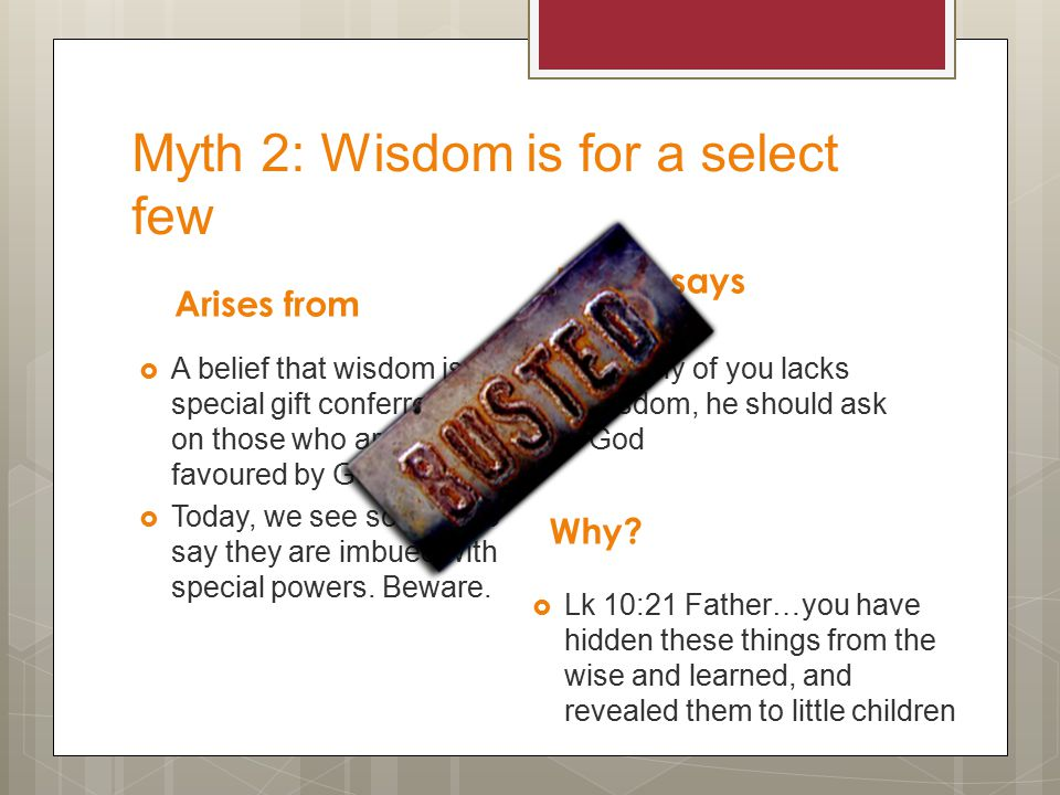 Myth 1: Faith is meant to be easy Arises from  A view that God's favour means comfort to the believer.