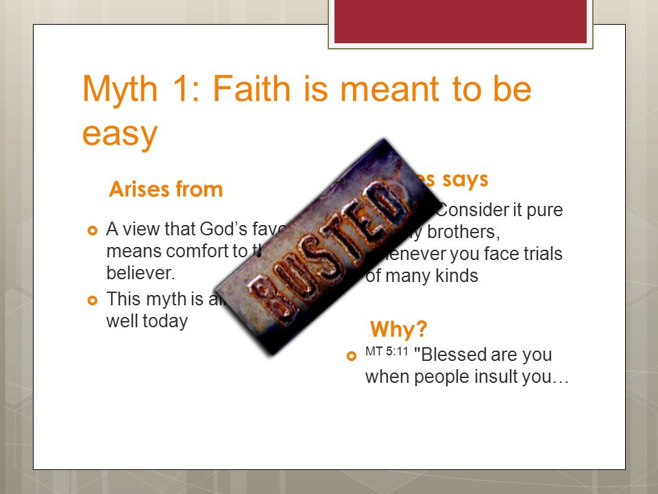 How does he bust these myths.