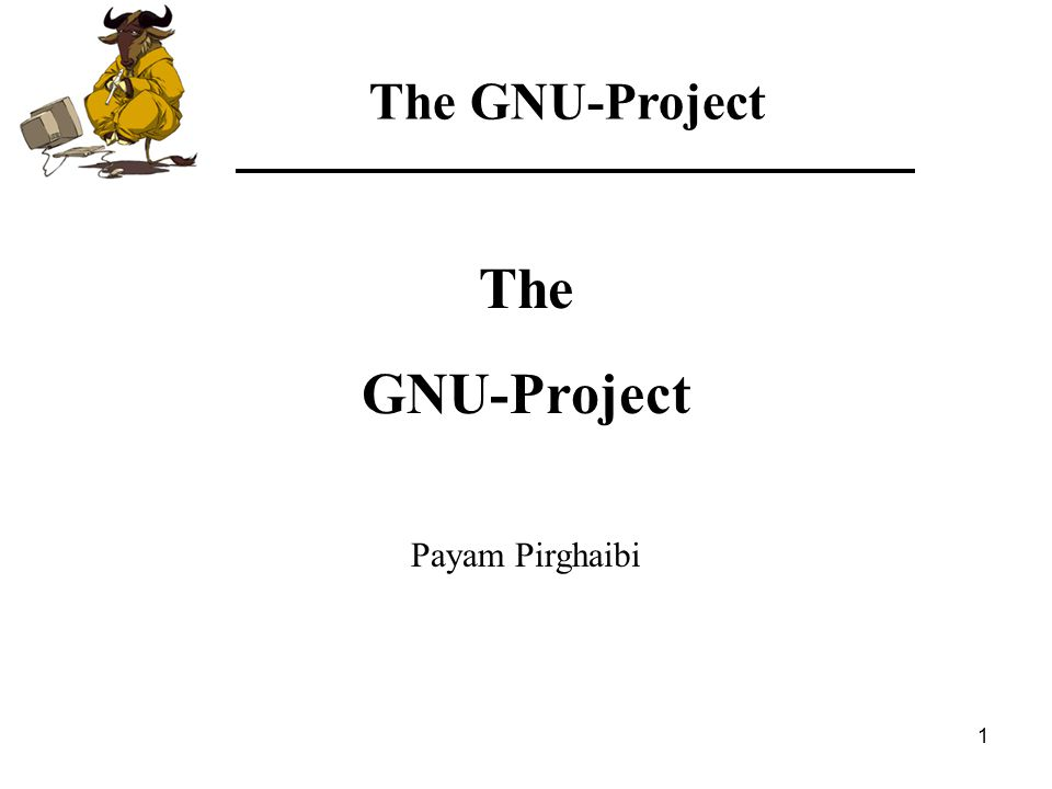 42 The GNU-Project Final remarks