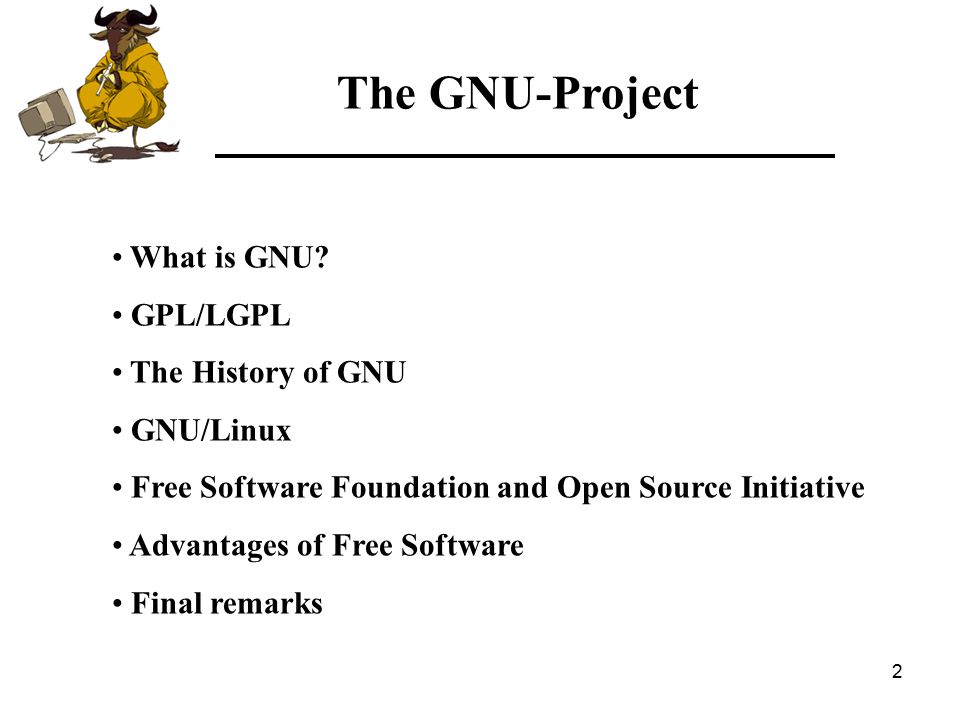 33 The GNU-Project Free Software Foundation Linux Examples of FSF and OSI products: