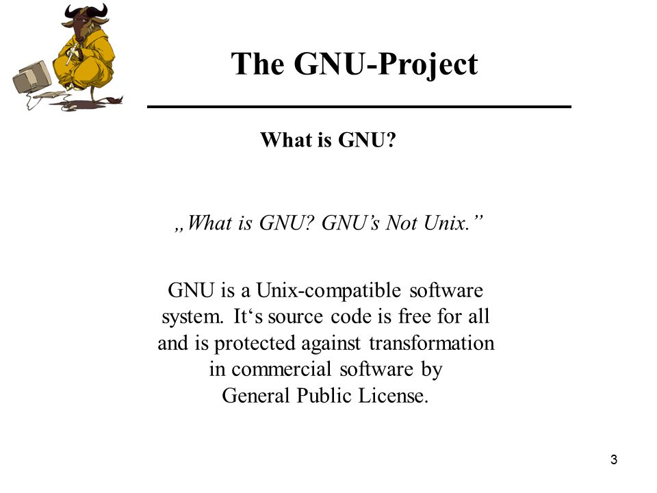 34 The GNU-Project Free Software Foundation MySQL Examples of FSF and OSI products: