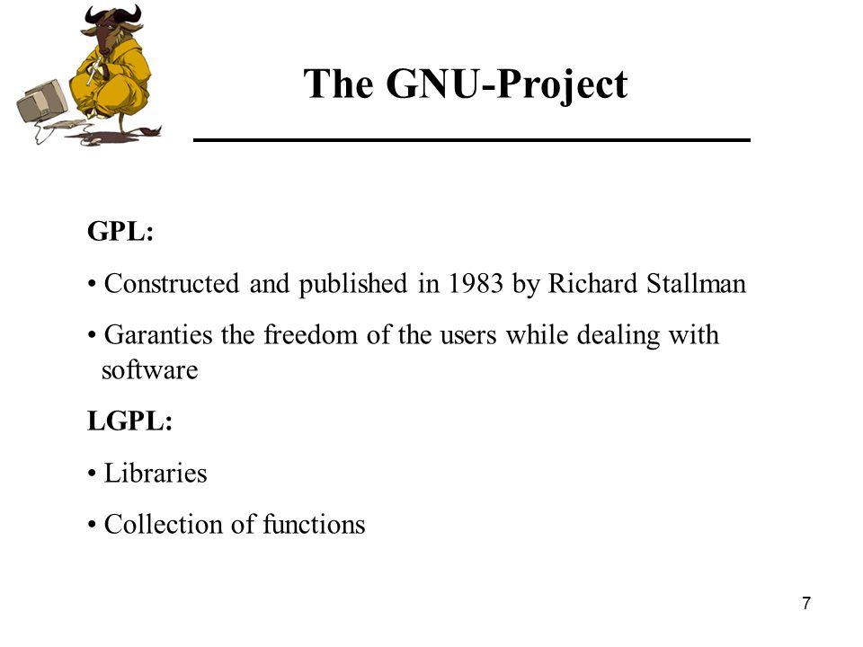 8 Richard Matthew Stallman The GNU-Project