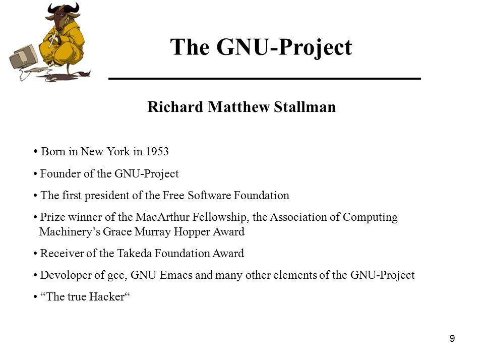30 The GNU-Project Free Software Foundation and Open Source Initiative