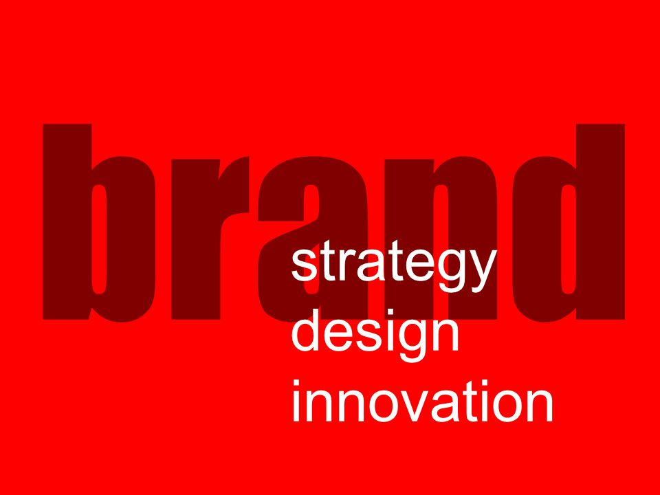 brand strategy design innovation