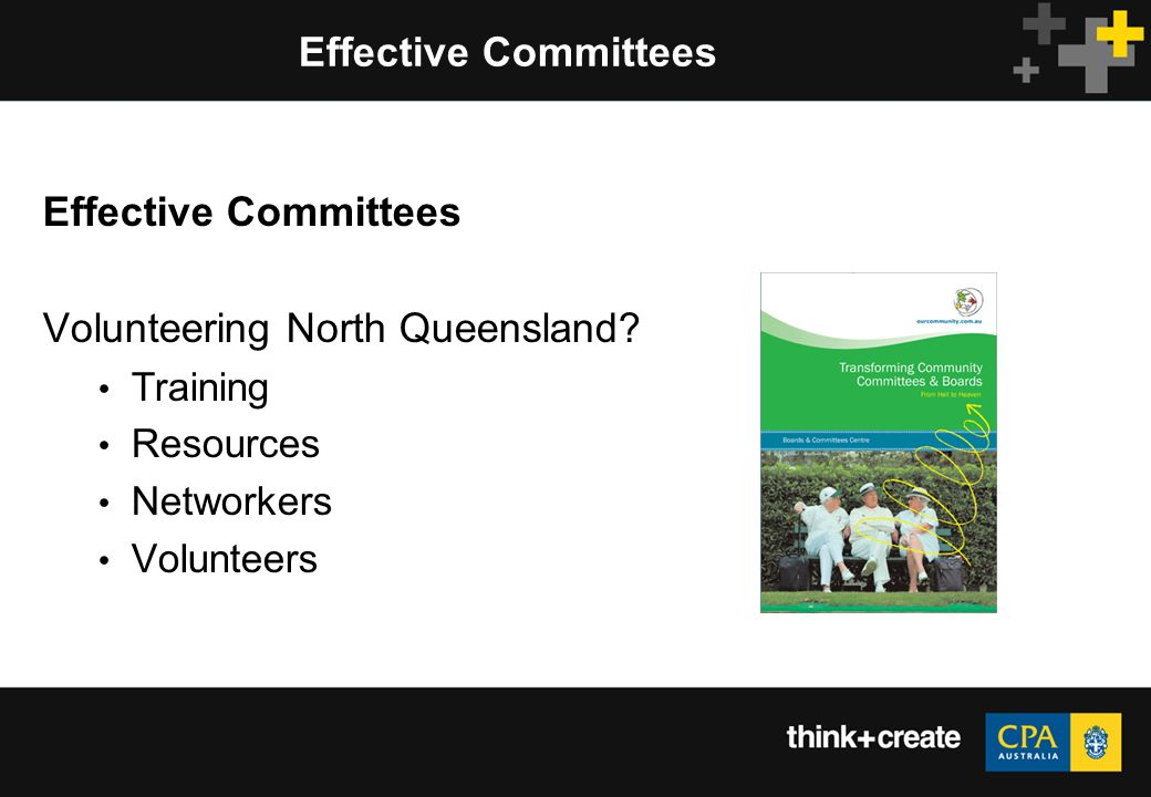 Effective Committees Volunteering North Queensland Training Resources Networkers Volunteers