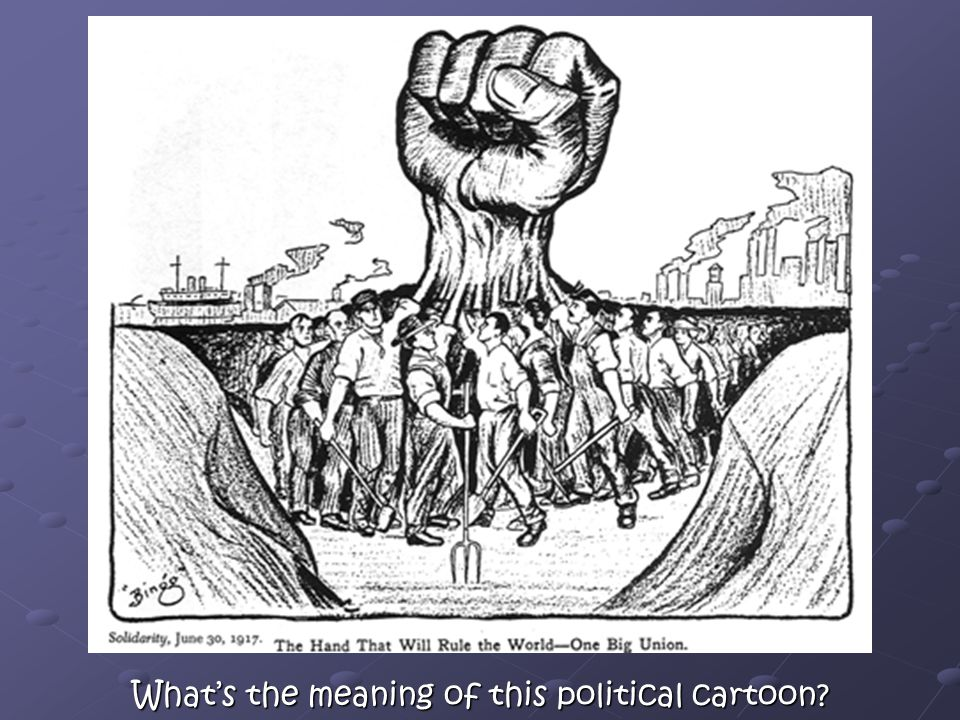 What's the meaning of this political cartoon?