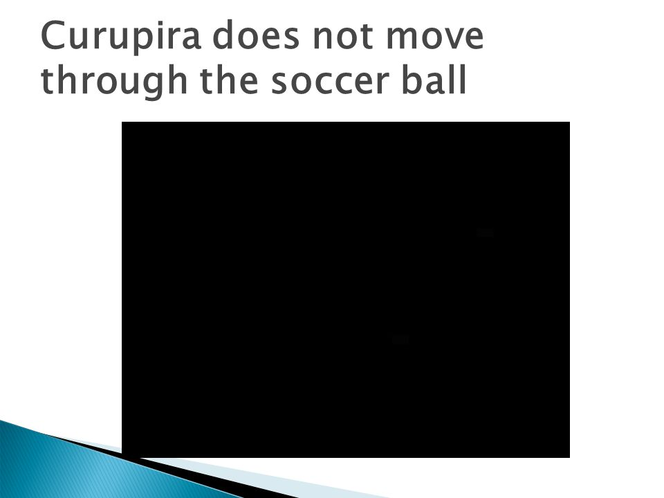 Curupira does not move through the soccer ball