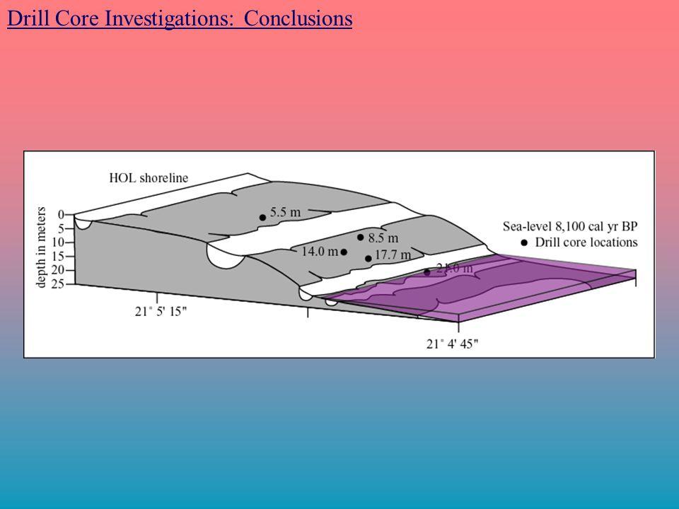 Drill Core Investigations: Conclusions