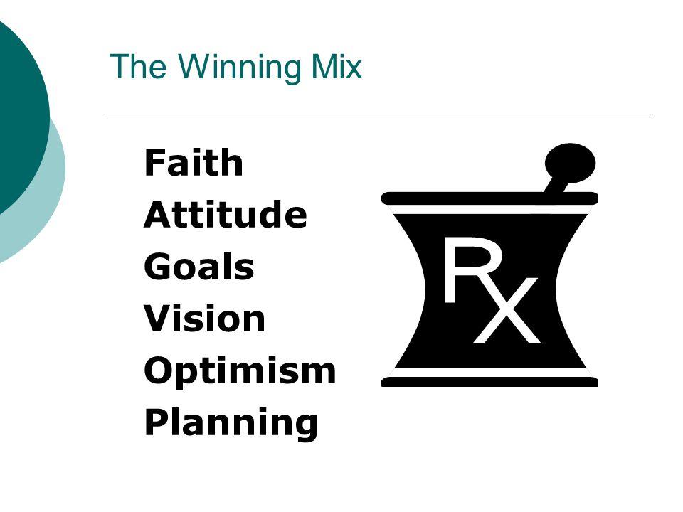 The Winning Mix Faith Attitude Goals Vision Optimism Planning