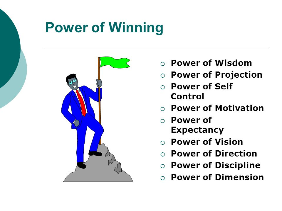 Power of Winning  Power of Wisdom  Power of Projection  Power of Self Control  Power of Motivation  Power of Expectancy  Power of Vision  Power of Direction  Power of Discipline  Power of Dimension