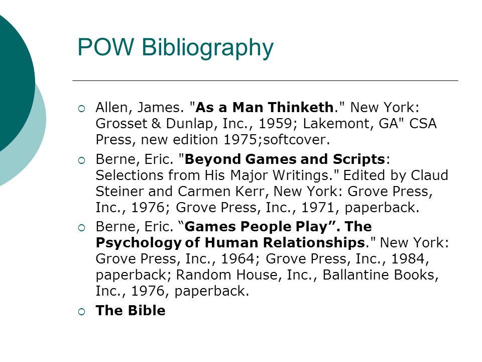 POW Bibliography  Allen, James.