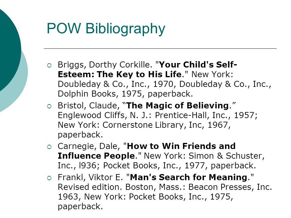 POW Bibliography  Briggs, Dorthy Corkille.