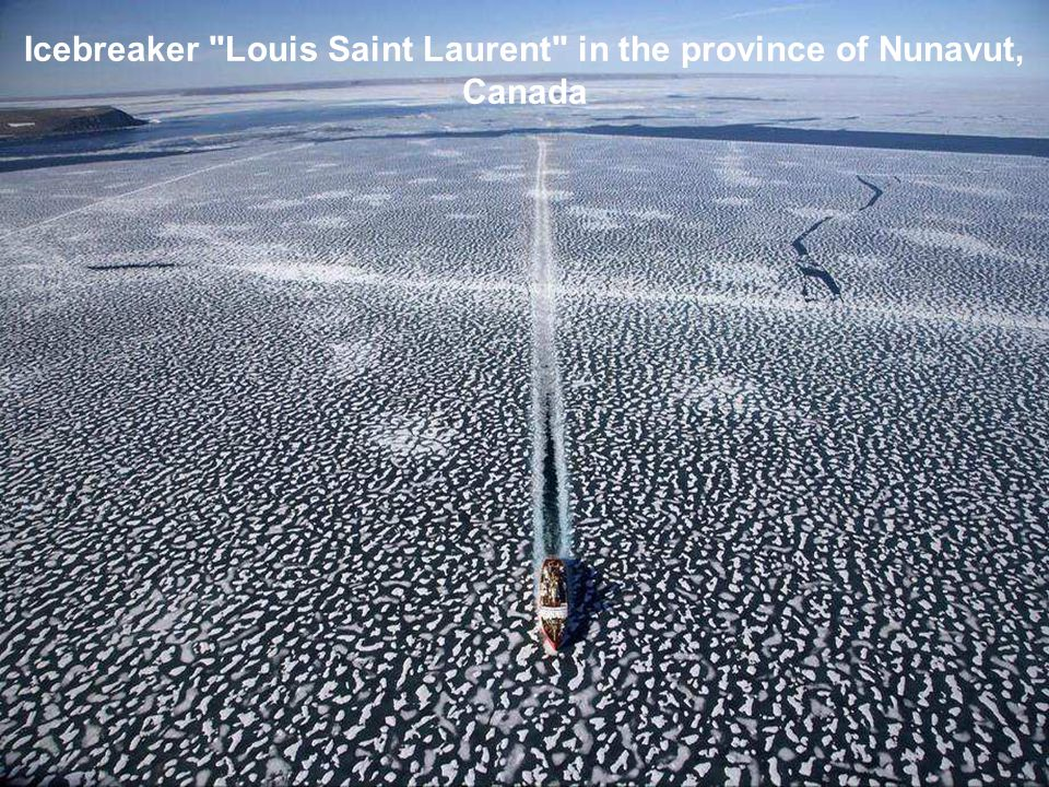 Icebreaker Louis Saint Laurent in the province of Nunavut, Canada