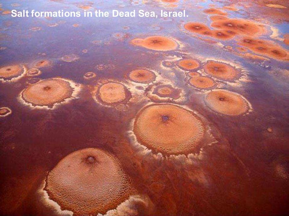 Salt formations in the Dead Sea, Israel.