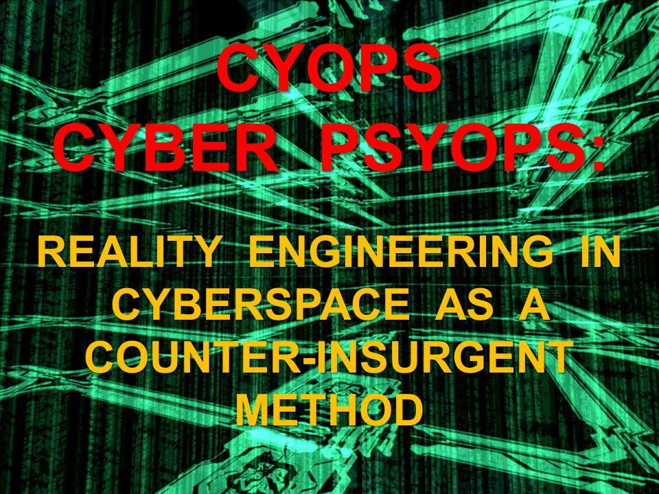 BOTTOM-LINE Cyberspace is ALREADY an informational battlefield.