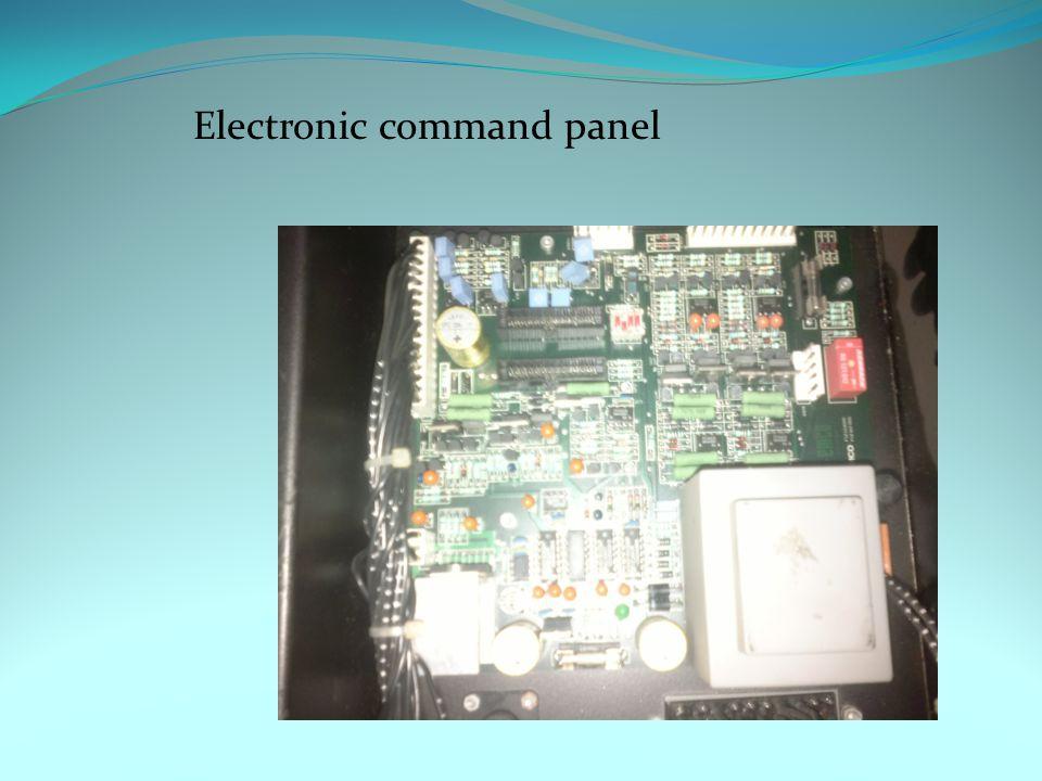 Electronic command panel