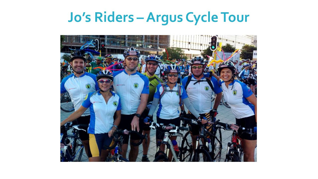 Jo's Riders – Argus Cycle Tour