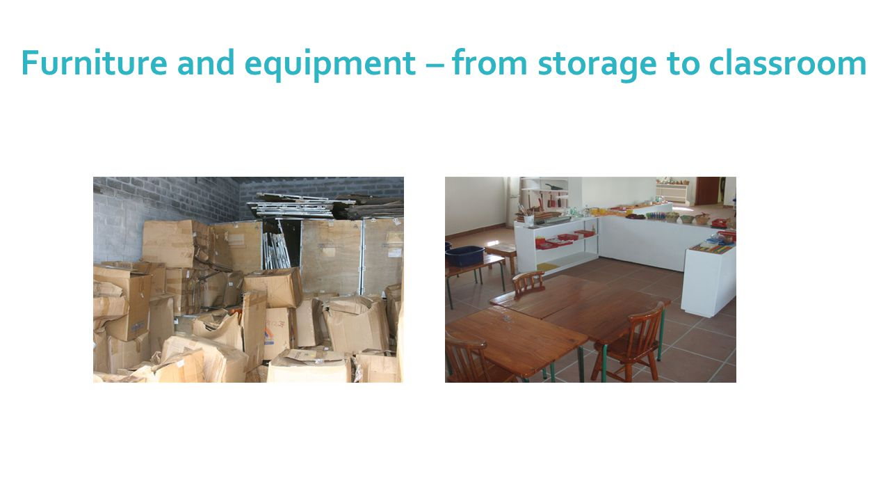 Furniture and equipment – from storage to classroom