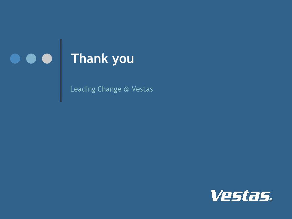 Thank you Leading Change @ Vestas