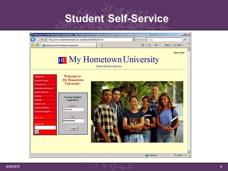 4/26/20156 Student Self-Service