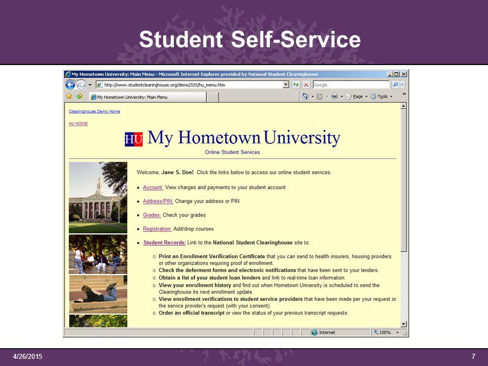 4/26/20157 Student Self-Service