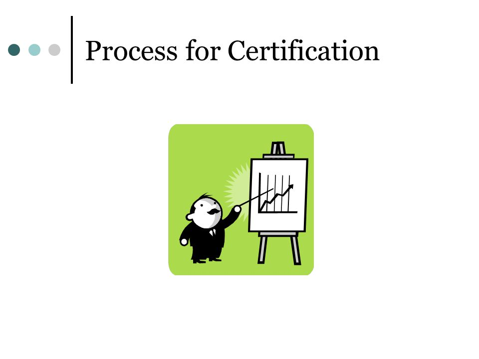 Process for Certification
