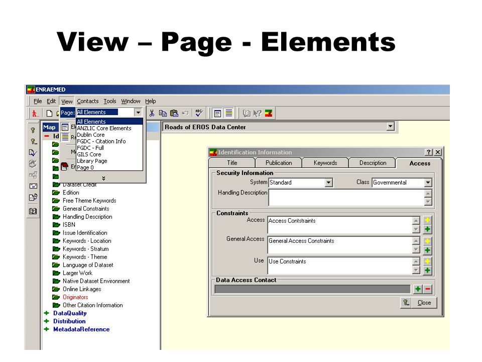 View – Page - Elements