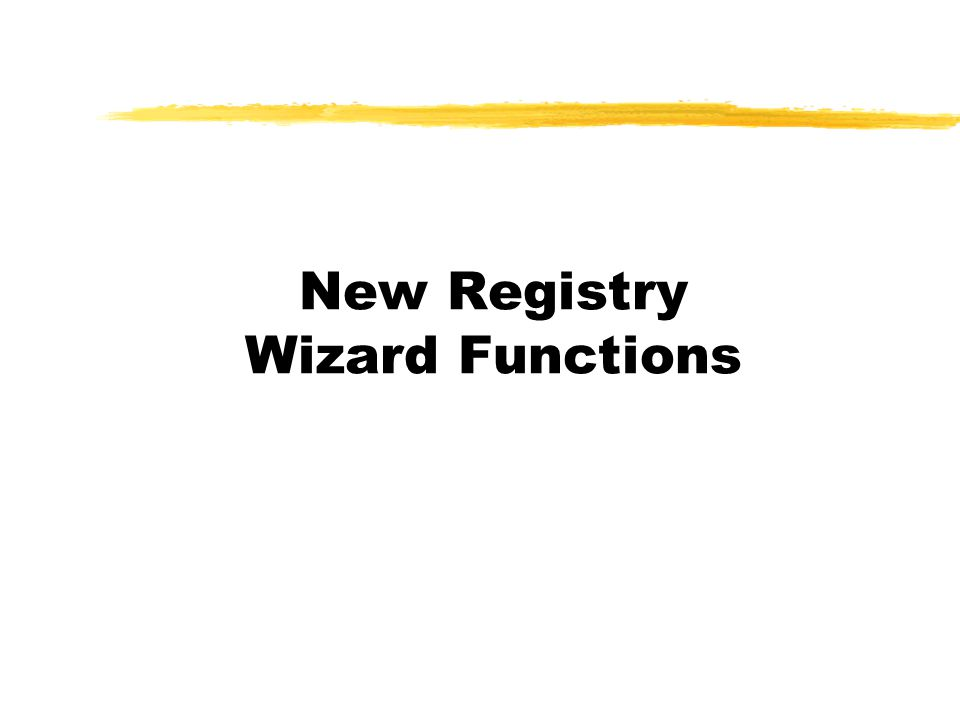 New Registry Wizard Functions