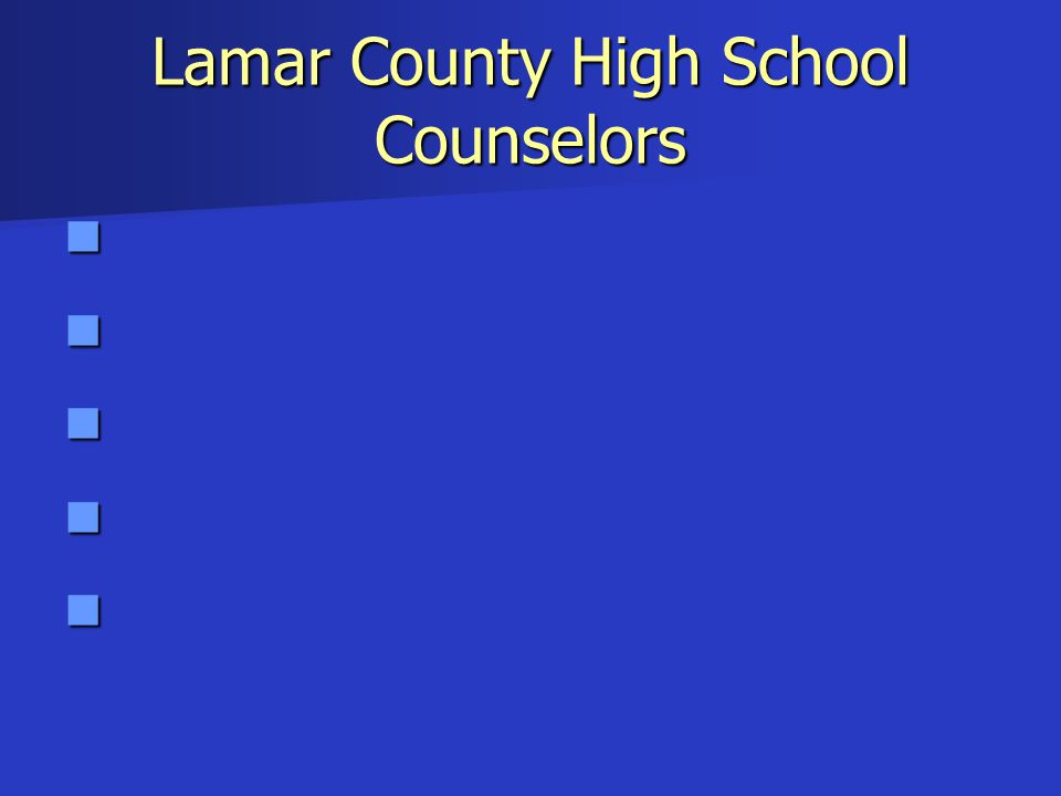 Lamar County High School Counselors