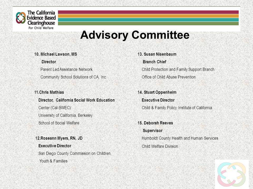 Advisory Committee 10.