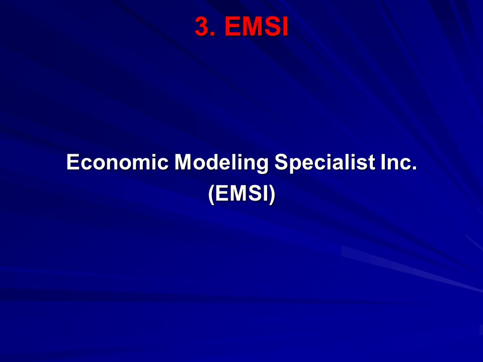 3. EMSI Economic Modeling Specialist Inc. (EMSI)