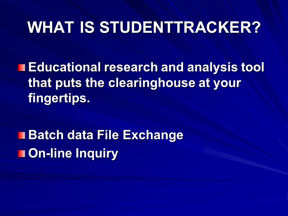 WHAT IS STUDENTTRACKER.