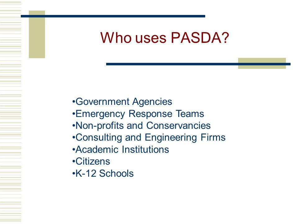 Who uses PASDA.