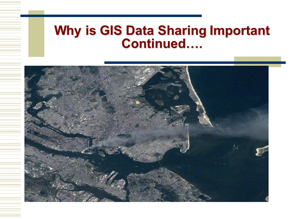 Why is GIS Data Sharing Important Continued….