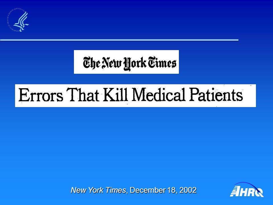 New York Times, December 18, 2002