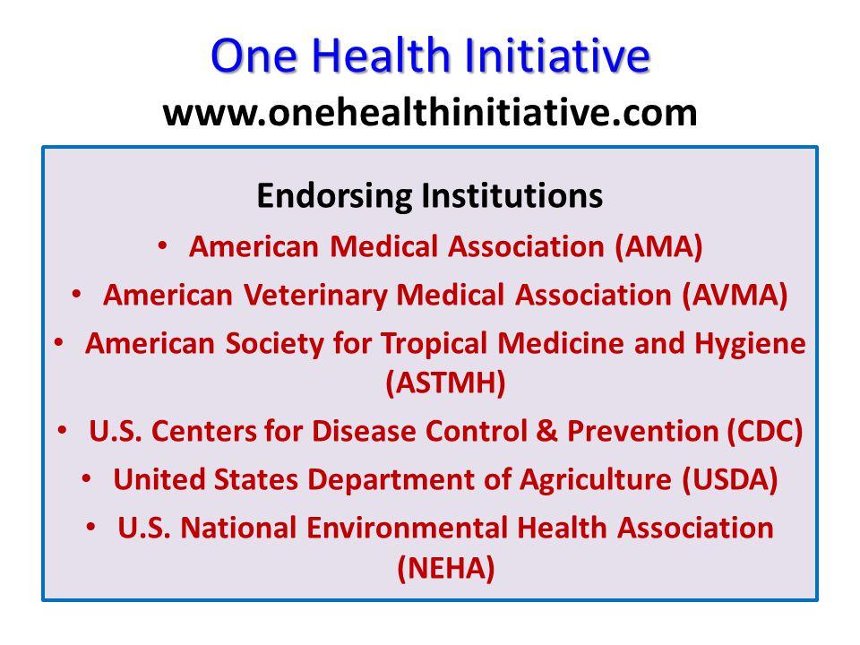 One Health Initiative One Health Initiative www.onehealthinitiative.com Endorsing Institutions American Medical Association (AMA) American Veterinary