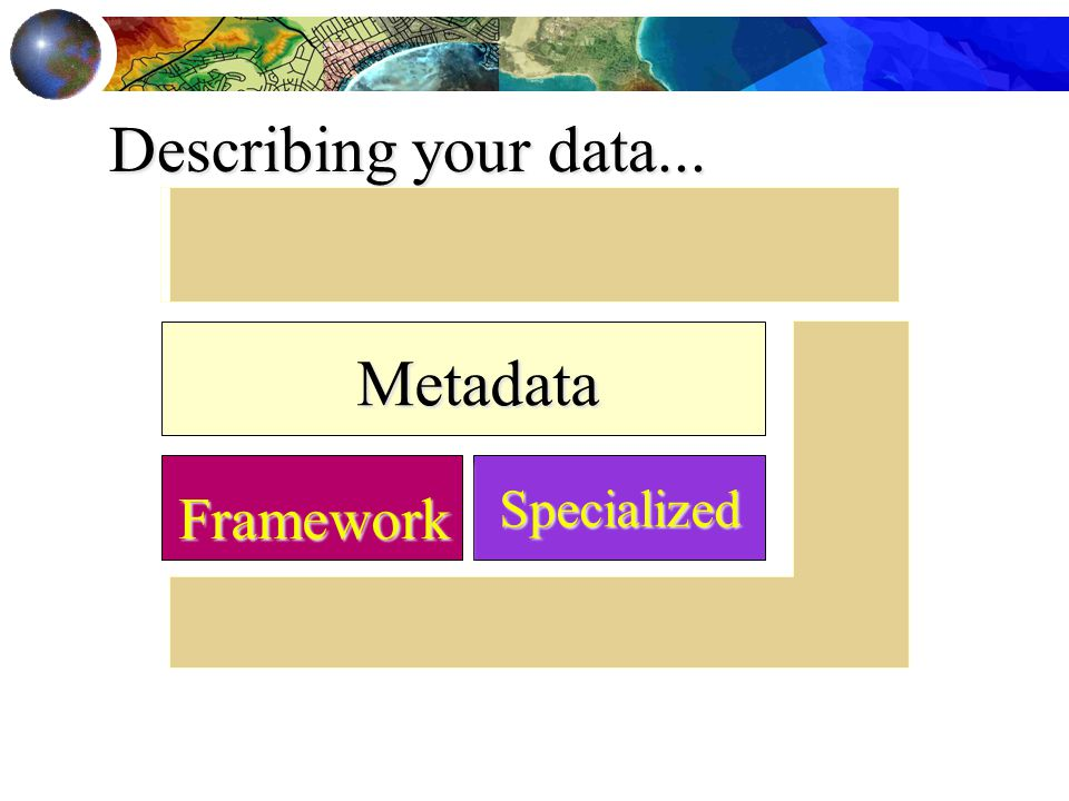 Specialized Framework Metadata Describing your data...