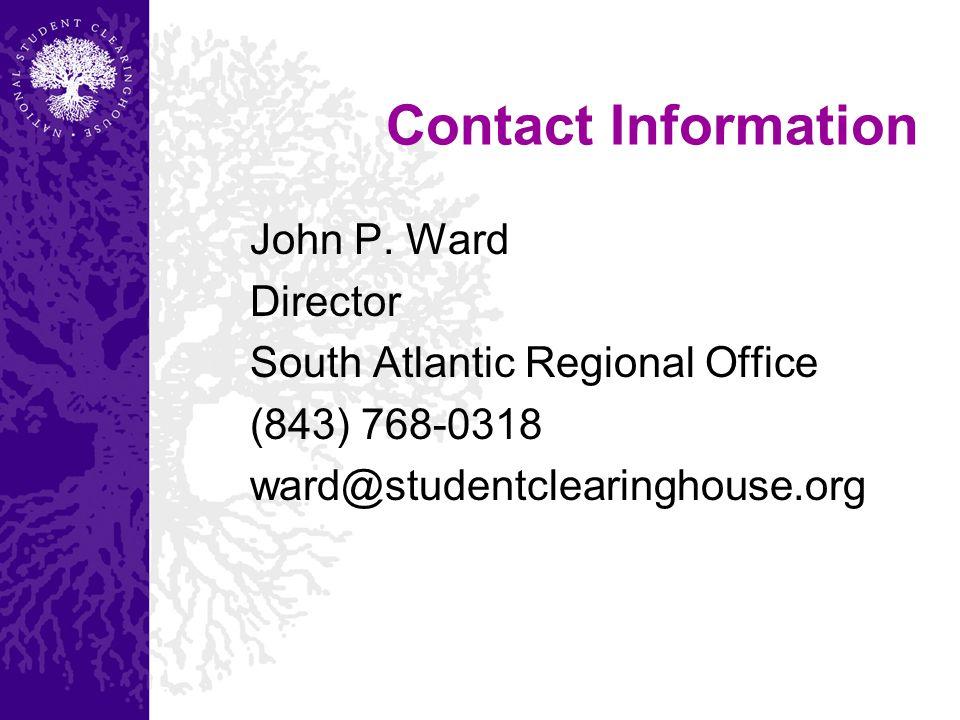 Contact Information John P.