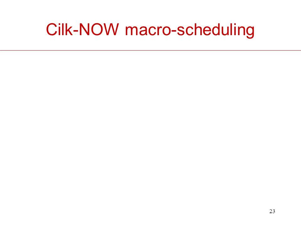 23 Cilk-NOW macro-scheduling