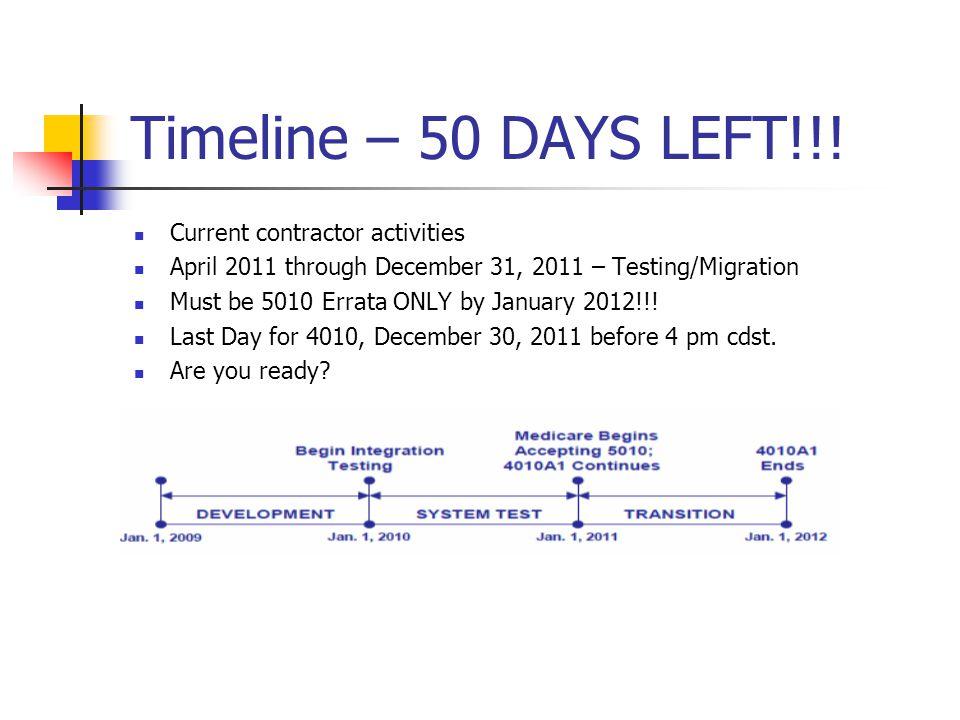 Timeline – 50 DAYS LEFT!!.