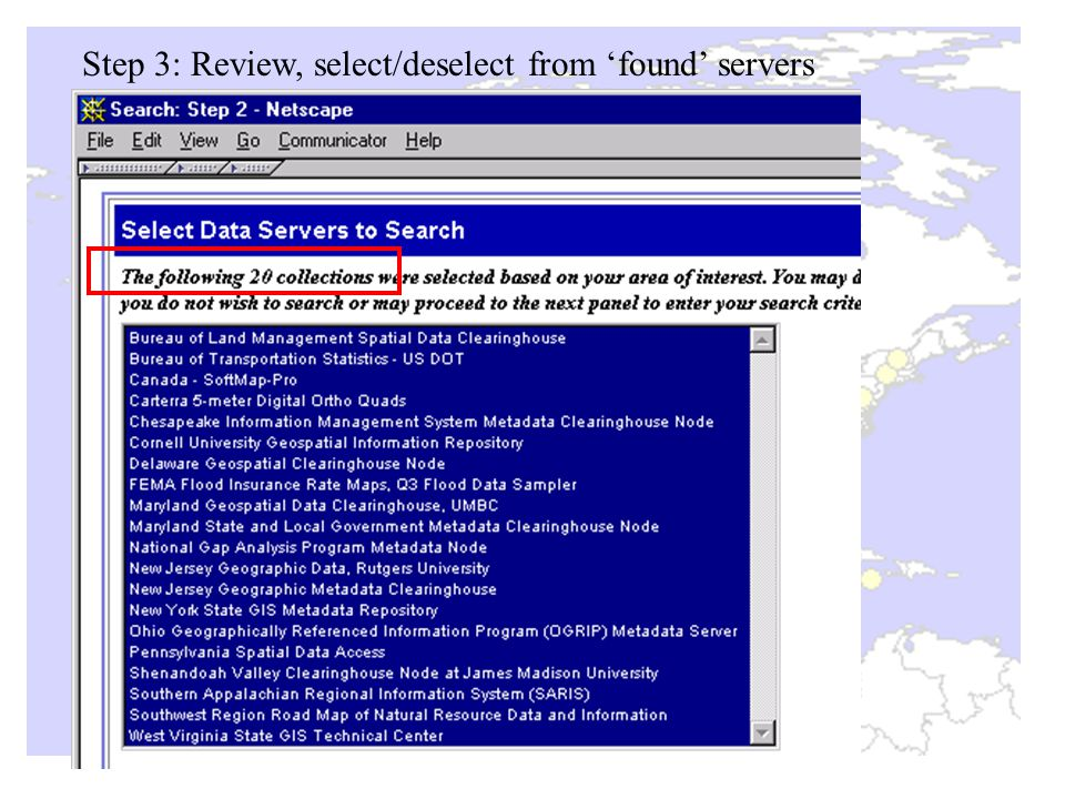 Step 3: Review, select/deselect from 'found' servers