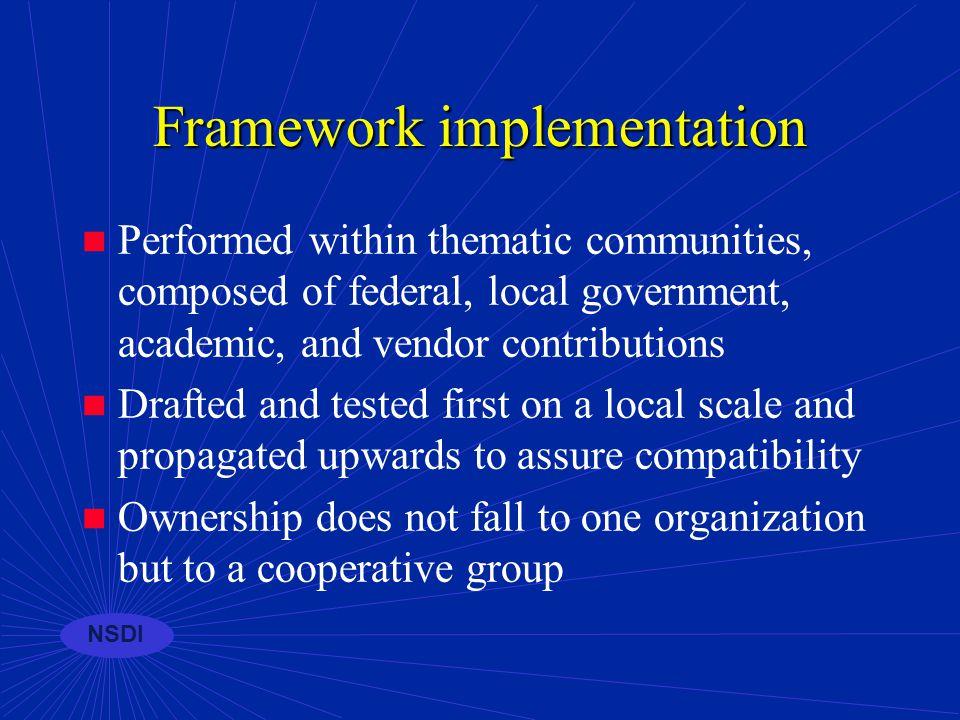NSDI Framework supports...