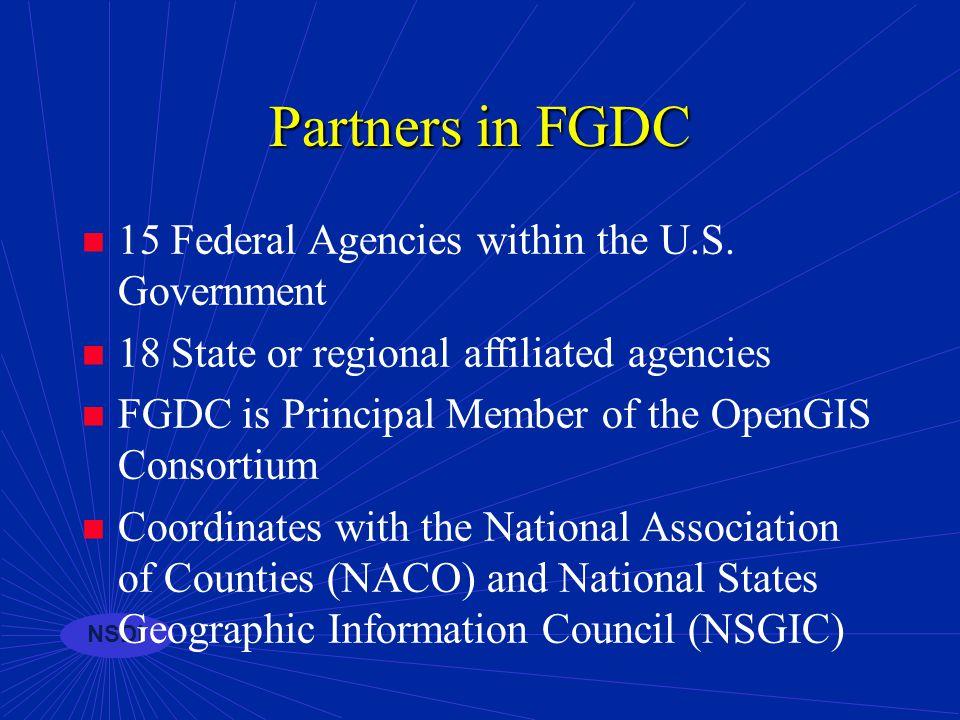 NSDI Partnerships GEOdata Framework Metadata Clearinghouse (catalog) Standards