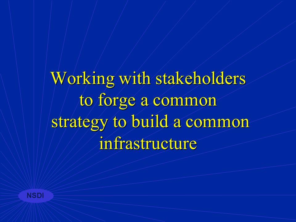 NSDI Cooperative programs n Competitive Cooperative Agreements Program n Framework Demonstration Projects Program n NSDI Benefits Program
