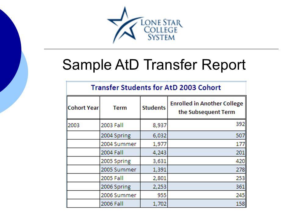 Sample AtD Transfer Report
