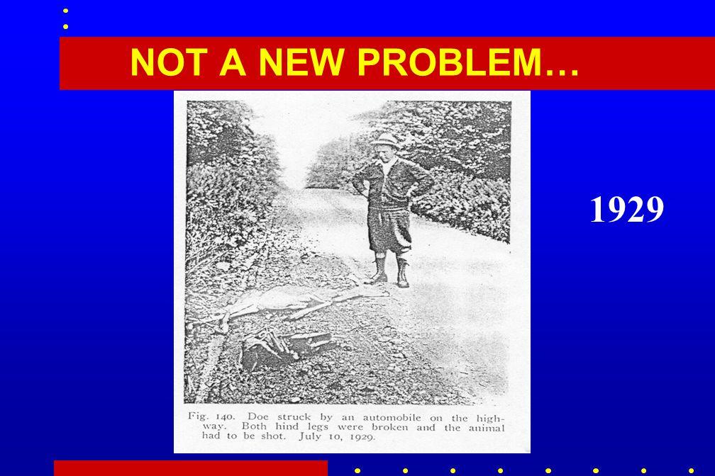 NOT A NEW PROBLEM… 1929