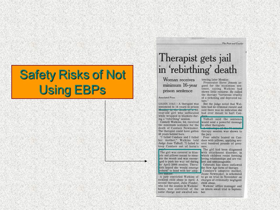 Safety Risks of Not Using EBPs